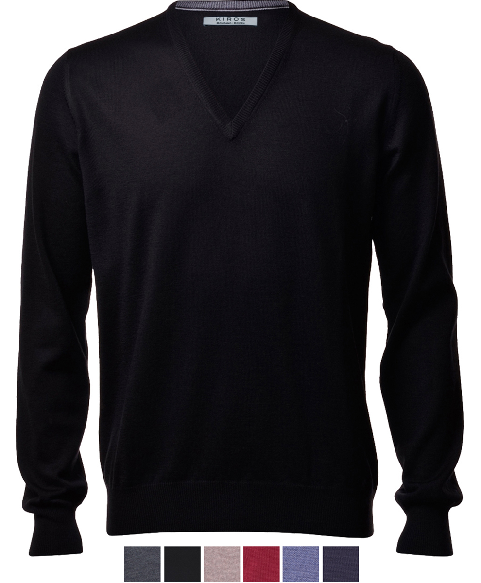 Knitwear classic V - neck slim fit